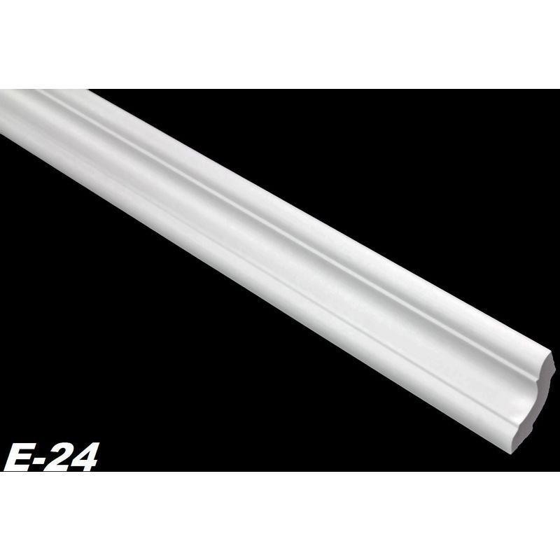 2 Meter Polystyrolleiste Stuckprofil Stuckleiste Leiste Profil 35x35mm M3-02