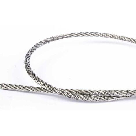 "main image of ""20 mètres de câble Ø 4mm acier inox A4"""