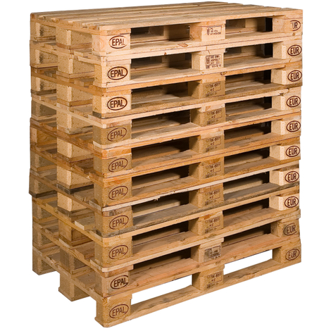 20 neue Europaletten Hell 120 x 80 cm tauschfähig Holzpaletten Tauschpaletten