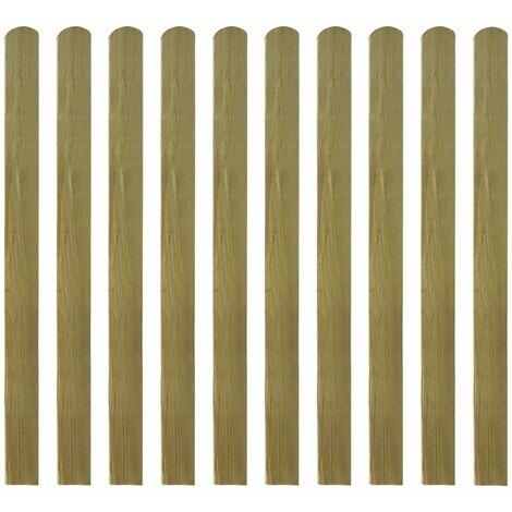 20 pcs Impregnated Fence Slats Wood 120 cm