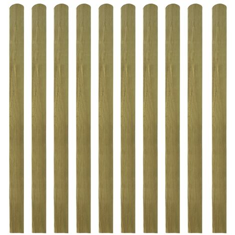 20 pcs Impregnated Fence Slats Wood 140 cm
