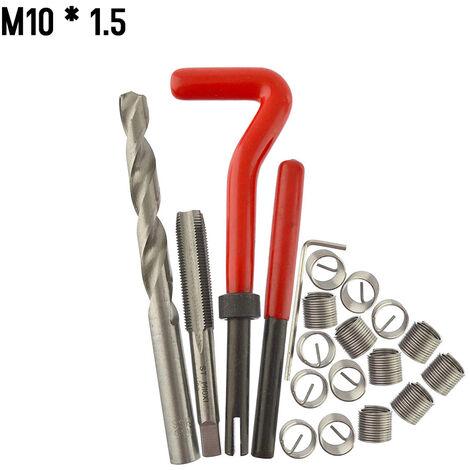 20 Pieces Kit D\'Insert De Reparation De Filetage Metrique M5 M6 M8 M10 M12 M14 Helicoil Car Pro Bobine Outil M10 * 1.5