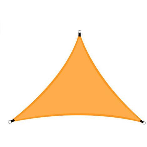20 pies lluvia mosca UV Resistente cortina de Sun Sail Canopy Triangulo 210T poliester Toldo de arena Sombrilla para patio al aire libre jardin trasero Actividades, 6x6x6M, Naranja