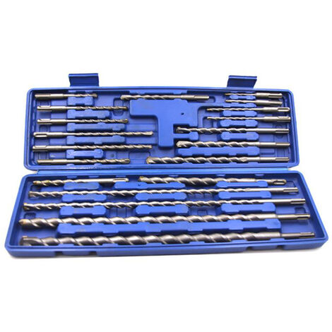 20 piezas 1 caja SDS Plus Brocas rotativas, juego de taladro percutor electrico