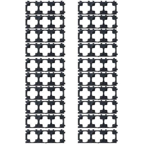 20 piezas de plastico de 18,5 mm, soporte de bateria 18650 de 3 enlaces, accesorio de paquete de bateria de iones de litio cilindrico
