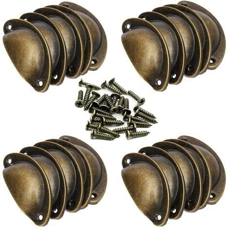 20 poign e de coquille vintage pour tiroir armoire meuble - Poignee de porte pour meuble de cuisine ...