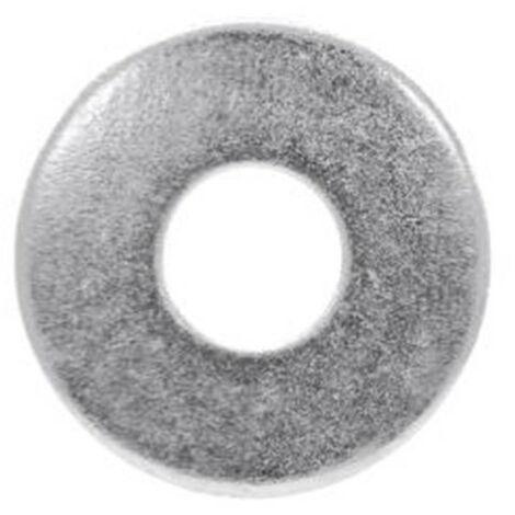 20 Rondelles plates larges zinguées - M10 x D. 10,5 x Ep. 2,5 mm