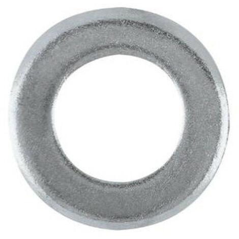 20 Rondelles plates zinguées - M10 x D. 10,5 x Ep. 2 mm