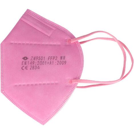 20 Stück FFP2 Maske Pink 5-Lagig, zertifiziert nach DIN EN149:2001+A1:2009, partikelfiltrierende Halbmaske, FFP2 Schutzmaske