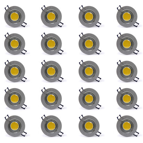 20 Stück LED Einbaustrahlerl Einbauleuchte Edelstahl Spots Decke 4 Watt naturweiß