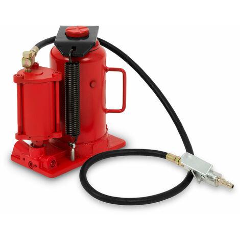 20 T Gato botella (neumático, hidráulico, 160 mm Altura de elevación, Altura mínima 270 mm, Válvula de seguridad)