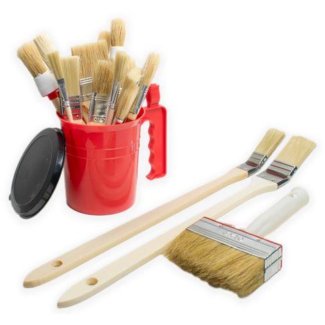 20 tlg Pinsel Satz Farbpinsel 3518346 Malerpinsel Set Pinselpott