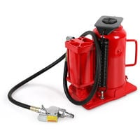 20 Tons Air or Manual Bottle Jack (Hydraulic, Pneumatic, 160 mm Lifting Height, min. Height 270 mm, Safety Valve, 2-part Lever)