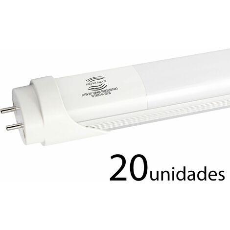 20 unidades tubo LED T8 ALUMINIO MATE 120cm 18W frío