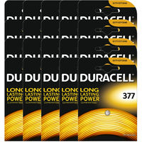 20 x Duracell 377 1.5v Silver Oxide Watch Battery Batteries SR626SW AG4 626 D377