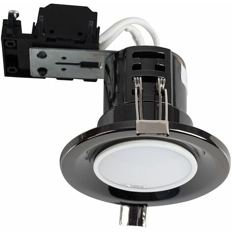 20 x Fire Rated Recessed Spotlights + Cool White LED GU10 Bulbs