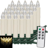20 x Set LED Christmas Tree Candles with Remote Warm White