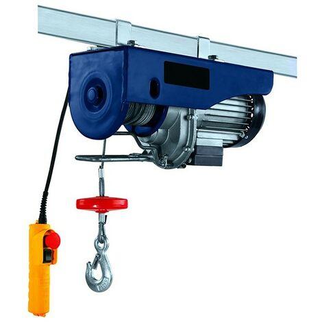 200/400 kg Hoist | Crochet duplicateur, cable 12 metres, 1000W | greement professionnel