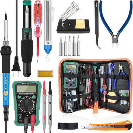 200-450 ¡æ Temperatura de 60W Digital herramienta de soldadura profesional ajustable del kit del soldador electrico de la bomba de desoldadura multimetro Simples