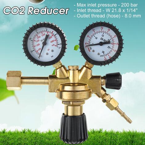200 BAR para soldadura de botella MIG Soldador de argón / Co2 Regulador de calibre de una etapa 2