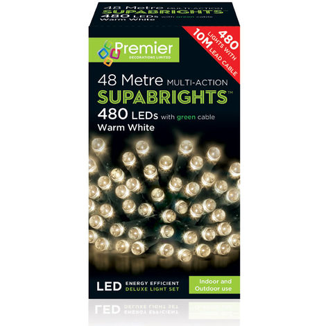 200 LED Supabrights Multi Function Christmas Tree Lights