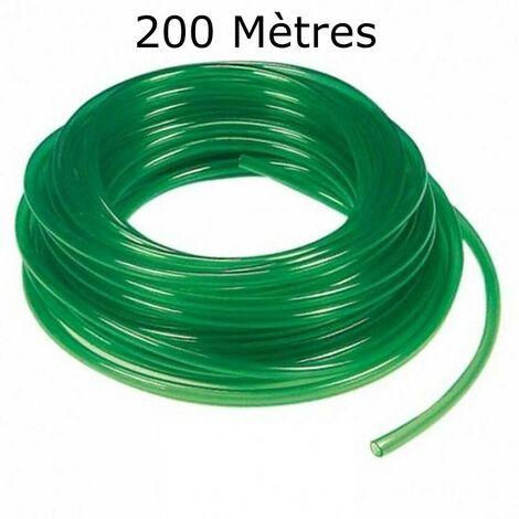 200 mètres de tuyau VERT 4/6 mm pour pompe à air aquarium et bassin - Vert