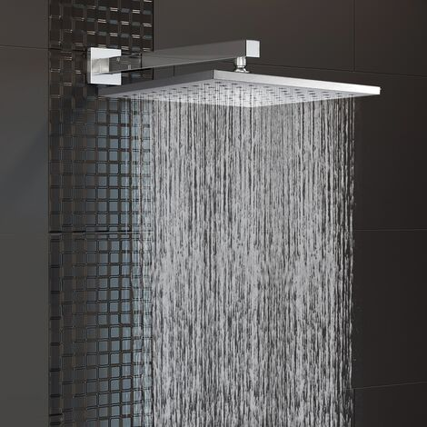 200 mm Fixed Square Shower Head with Wall Mounted Arm