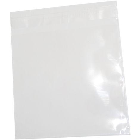 200 sachets pochettes avec fermeture 12.5x12.5cm 30µm transparents en OPP format CD