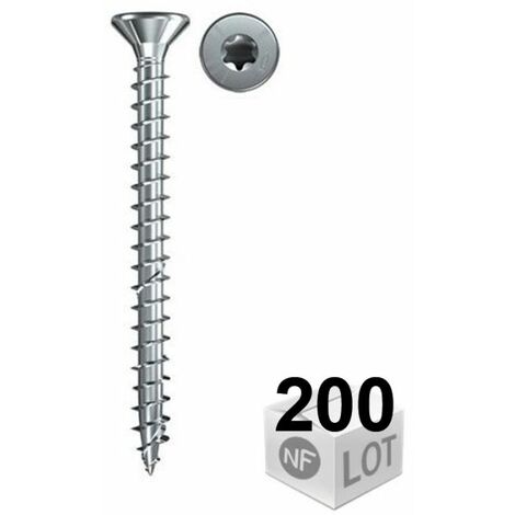 200 Vis VBA zingué blanc Power-Fast TX10 Ø3x20mm