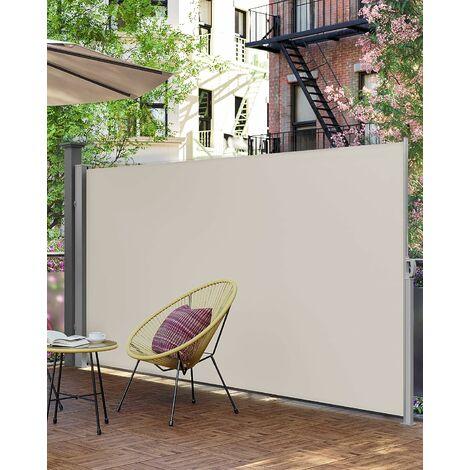 200 x 300 cm (H x L), Store latéral pour balcon et terrasse, Pare-soleil, Brise-vue protection vie privée, Taupe GSA200K02 - Taupe