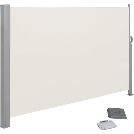 200 x 300 cm(Alto x Largo), Toldo lateral para balcón y terraza, Protección de la intimidad, Protección solar, Persiana lateral, Topo GSA200K02 - Topo