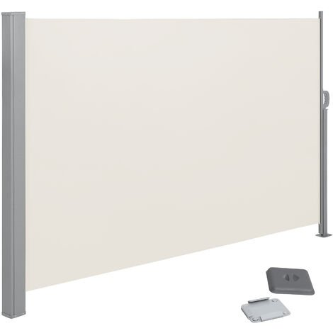 200 x 350 cm(Alto x Largo), Toldo Lateral para balcón y terraza, Protección de la intimidad, Protección Solar, Persiana Lateral, Beige GSA205E02 - Beige
