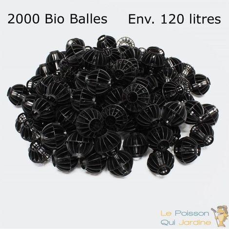2000 Bio Balles ( 120 Litres ) 45mm Pour Filtre Bassin De Jardin