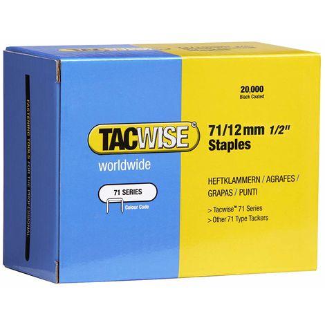 20000 Tacwise 12mm Type 71 series Galvanised staples for staple gun guns 0370