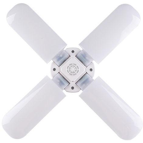 20000LM 4 lames déformables LED garage lumière E27 plafond réglable de magasin