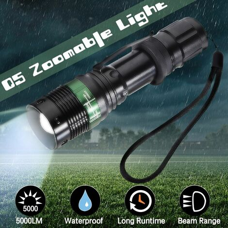 20000LM Rechargeable LED Flashlight Zoomable Torch Light 18650 Light for Outdoor Night Light WASHING