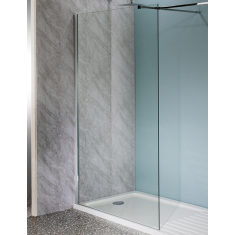 2000mm x 900mm Walk In Easy Clean Glass Shower Screen 10mm