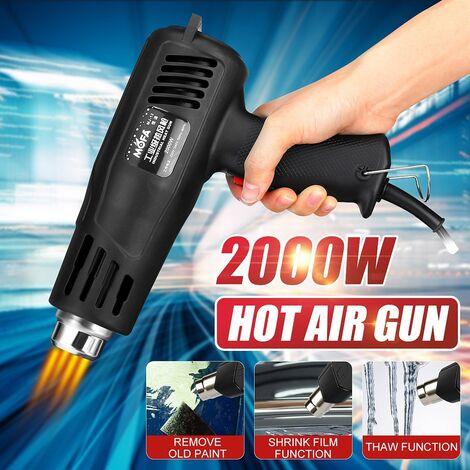 2000W 220V buse à Air chaud électrique industrielle thermorégulateur réglable buse de chaleur de débit d'air torche en plastique pour outils de feuille de voiture Pistolet à air chaud