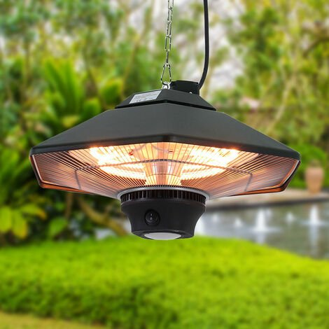 """main image of """"2000W Hanging Garden Infrared Electric Patio Heater Light with Remote"""""""