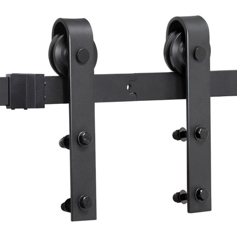 200cm Schiebetürsystem Set Schiebetürbeschlag Zubehörteil für Holztüren inklusive Laufschiene