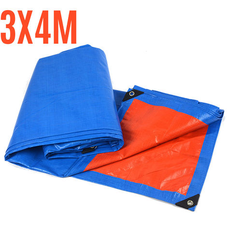 200GSM tarpaulin waterproof cover ground camping tarp multipurpose sheet 3 * 4m