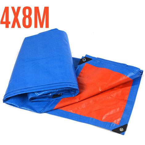 200GSM Tarpaulin Waterproof Cover Ground Camping Tarp Multipurpose Sheet 4 * 8m
