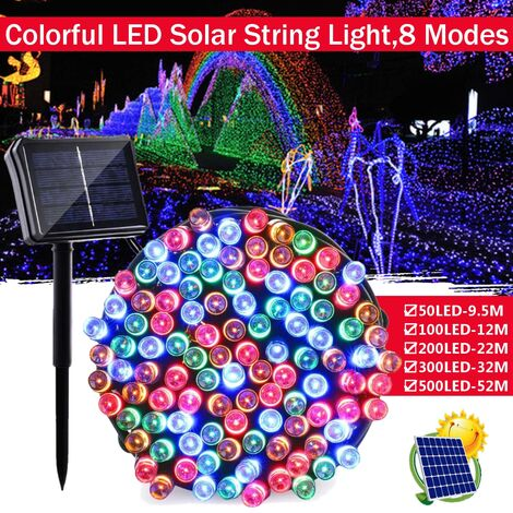 200LED Solar Outdoor String Lights Patio Garden Christmas Lamp Party Fairy 22M