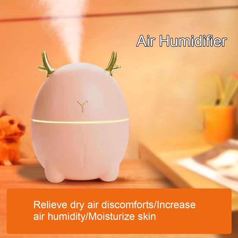 200ML Mini umidificatore sveglia a forma di cervo portatile umidificatore Aroma olio essenziale diffusore