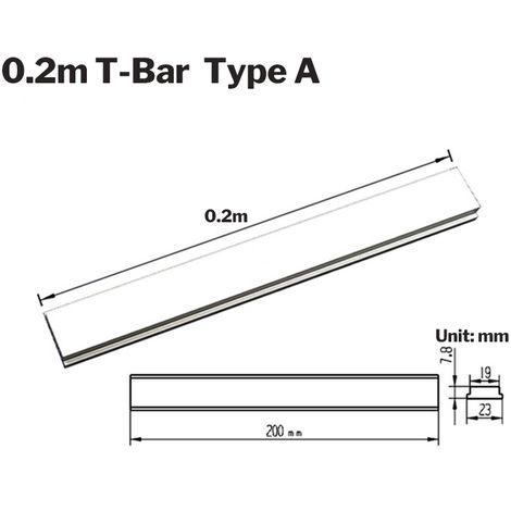 200mm Barre en T en alliage d'aluminium pour menuiserieSans trou