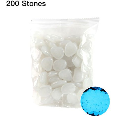 200pcs/Bag Luminous Pebbles Glow in the Dark Stones Home Fish Tank Outdoor Decor Garden Walkway