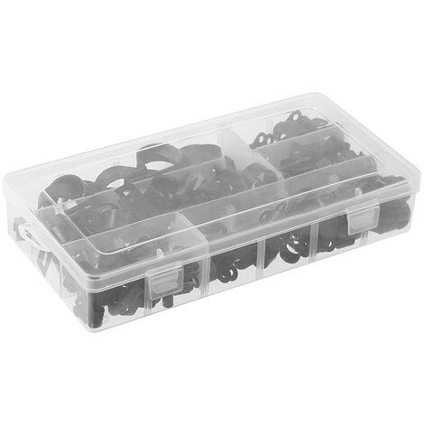 200Pcs En Nylon Fil Serre-Cable Autoradios Fastener Clips De Fil En Plastique Flexible Monture P Type Serre-Cables Cordon Clip Accessoires Voiture