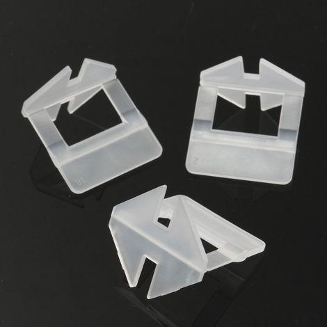 200PCS Système de Nivellement Carrelage Sol Mural Espaceur Niveau Pince Clip 1mm