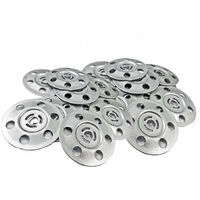 200PK Metal Insulation Discs 35mm Washers For Plasterboard Wall Ceiling Fixings