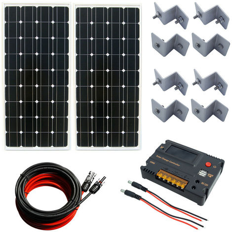200W 2*100W Mono Solar panel off Grid & 20A CMG Battery Controller 12V charge